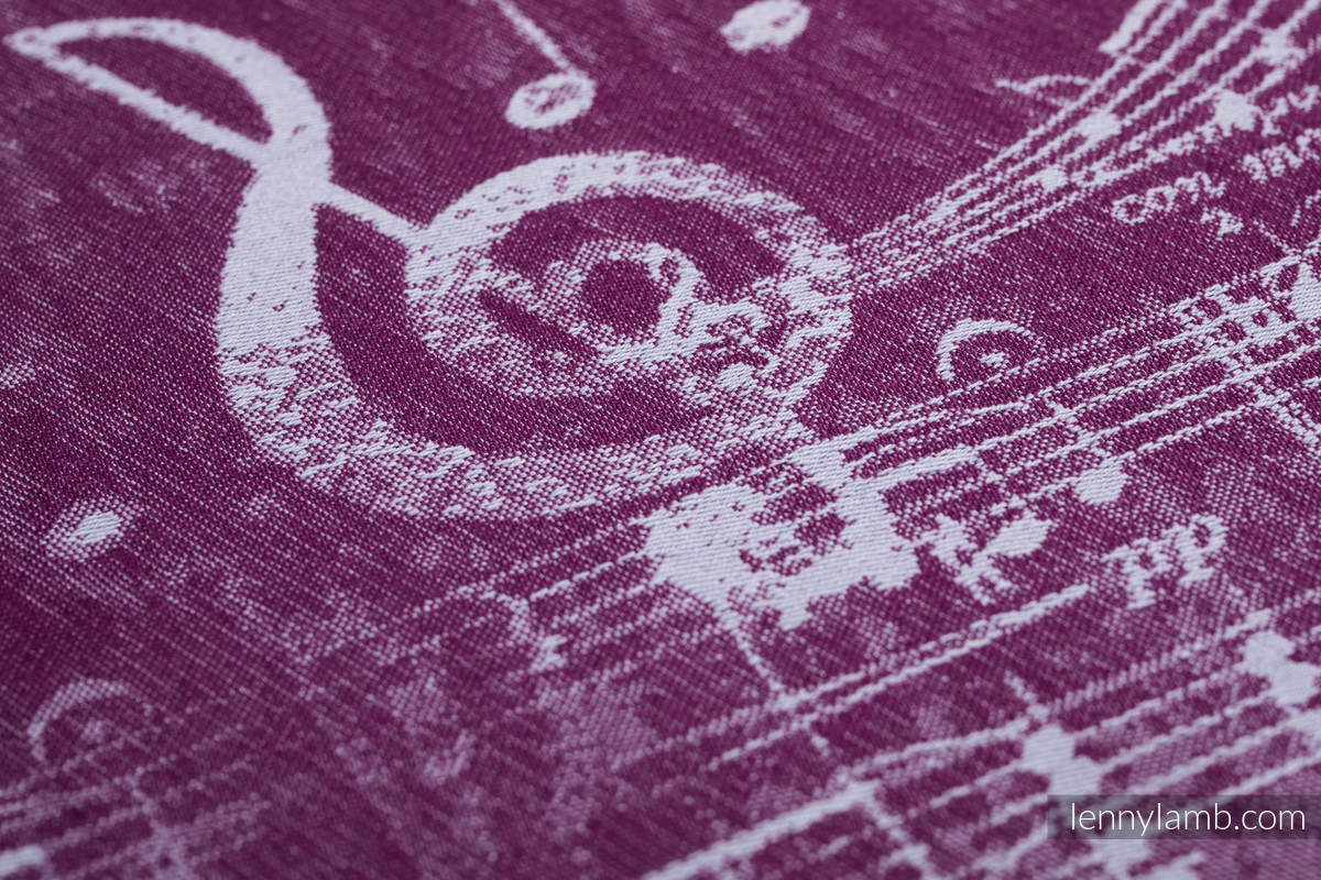 Baby Wrap, Jacquard Weave (100% cotton) - SYMPHONY - THE PEAR OF LOVE - size XL #babywearing