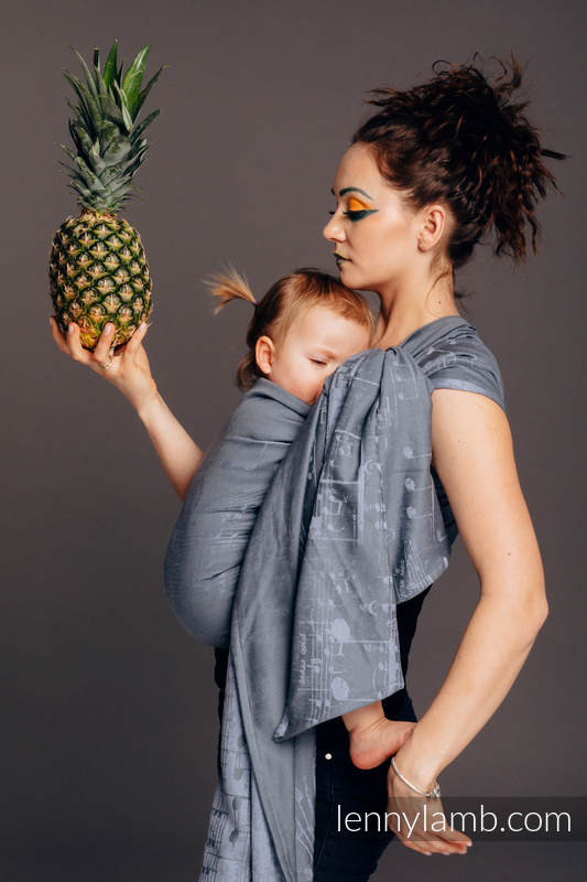 Baby Wrap, Jacquard Weave (100% cotton) - SYMPHONY - THE KING OF FRUITS - size XL #babywearing
