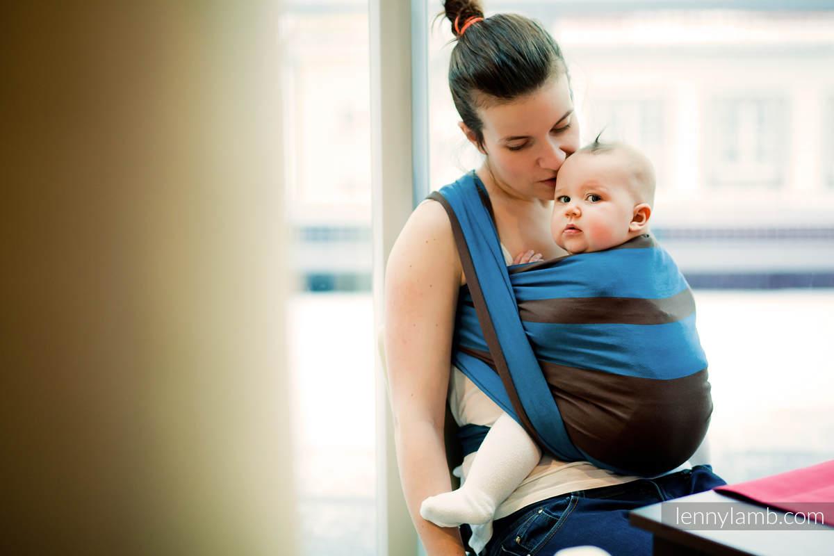 Baby Sling, Broken Twill Weave (100% cotton) - FOREST DEW - size XS (grade B) #babywearing