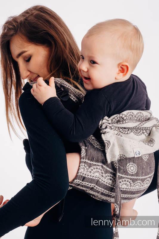 Onbuhimo SAD LennyLamb, talla toddler, jacquard (74% algodón, 26% seda) - SENTIMENT - LACE #babywearing
