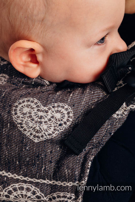 LennyUp  Carrier, Standard Size, jacquard weave, 74% cotton 26% silk - SENTIMENT - LACE #babywearing