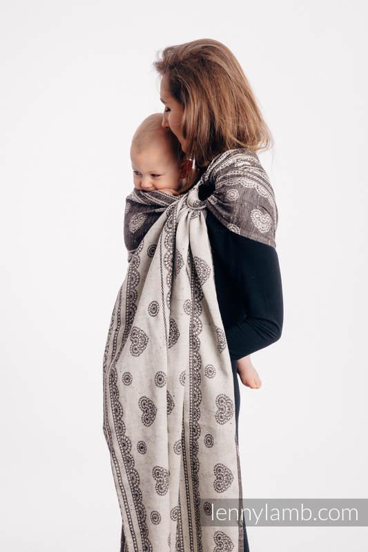 RingSling, Jacquardwebung (74% Baumwolle, 26% Seide), Raffung an den Ringen - SENTIMENT - LACE - standard 1.8m #babywearing