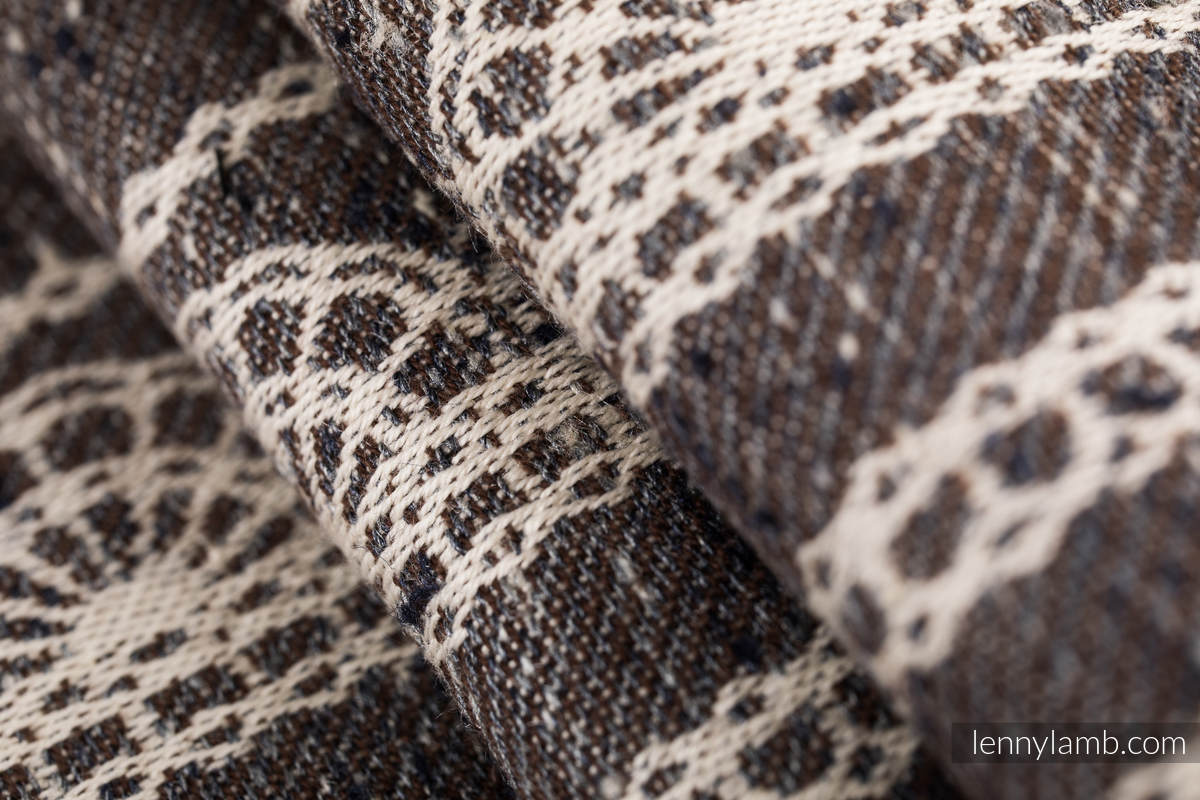 Baby Wrap, Jacquard Weave (74% cotton 26% silk) - SENTIMENT - LACE - size XS #babywearing