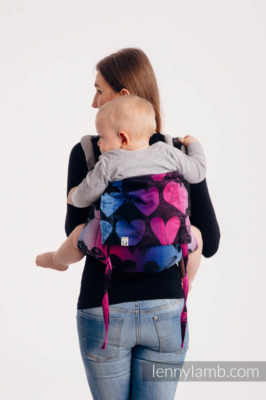 Lenny Buckle Onbuhimo baby carrier - CHOICE - LOVKA PINKY VIOLET - Standard  size, jacquard weave (100% cotton)  #babywearing