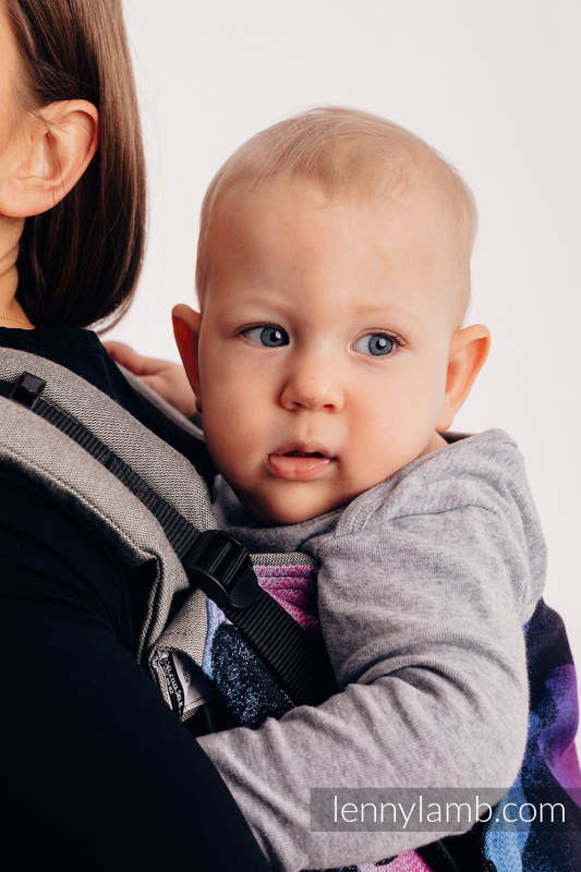 Lenny Buckle Onbuhimo Tragehilfe - CHOICE - LOVKA PINKY VIOLET -  Größe Standard, Jacquardwebung (100% Baumwolle) #babywearing