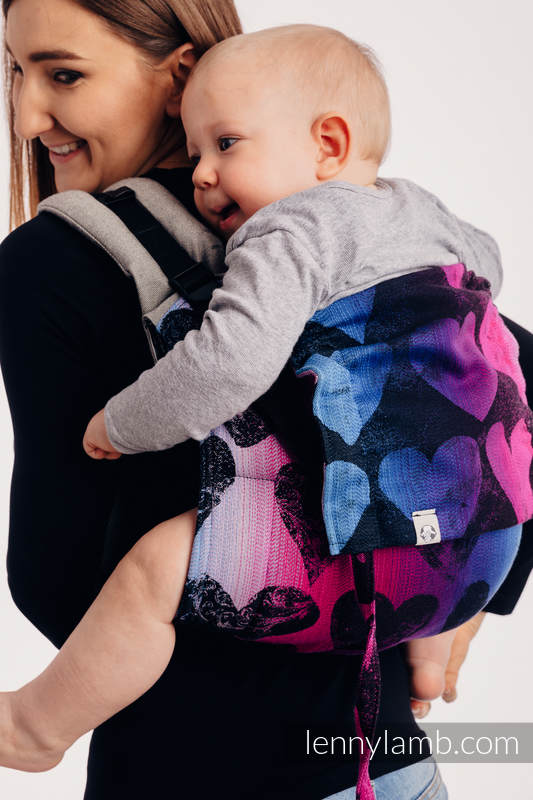 Lenny Buckle Onbuhimo - CHOICE - LOVKA PINKY VIOLET - Standard  size, jacquard weave (100% cotton)  #babywearing