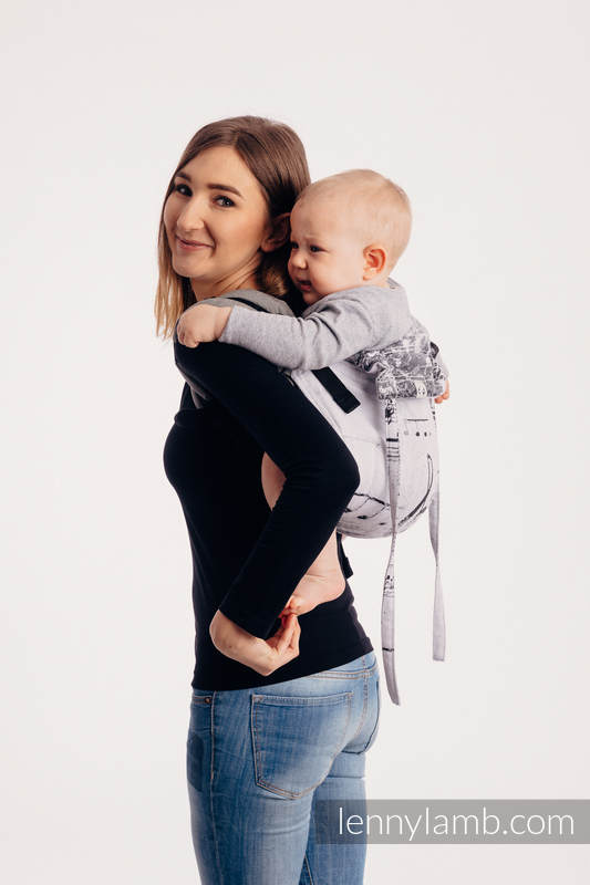 Lenny Buckle Onbuhimo baby carrier - CHOICE - SYMPHONY CLASSIC - Standard size, jacquard weave (100% cotton)  #babywearing