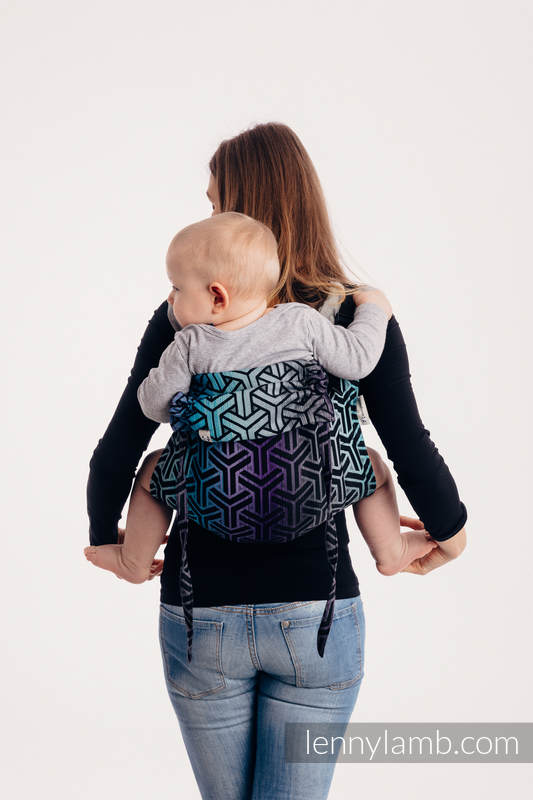 Lenny Buckle Onbuhimo baby carrier - CHOICE - TRINITY COSMOS - Toddler size, jacquard weave (100% cotton)  #babywearing