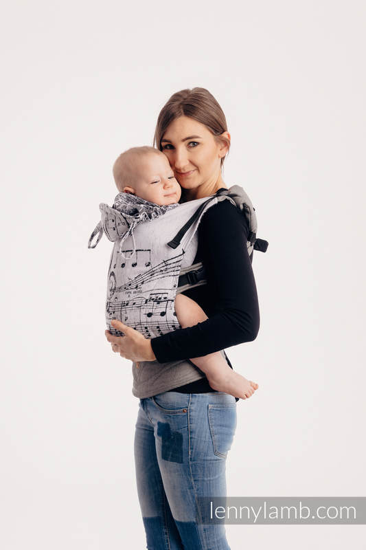 LennyGo Ergonomic Carrier - CHOICE - SYMPHONY CLASSIC, Toddler Size, jacquard weave 100% cotton #babywearing