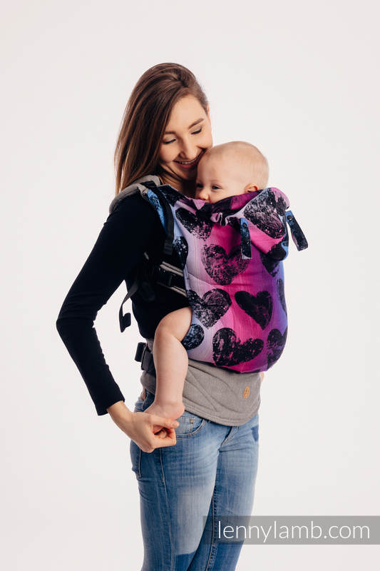 LennyGo Ergonomic Carrier - CHOICE - LOVKA PINKY VIOLET, Toddler Size, jacquard weave 100% cotton #babywearing