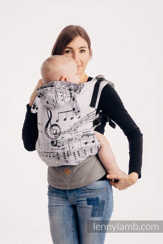 LennyGo Ergonomic Carrier - CHOICE - SYMPHONY CLASSIC, Baby Size, jacquard weave 100% cotton #babywearing