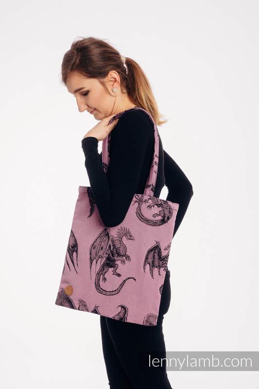 Shopping bag made of wrap fabric (100% cotton) - DRAGON - DRAGON FRUIT #babywearing