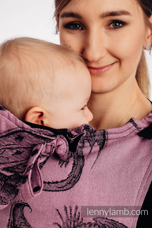 LennyGo Ergonomic Carrier, Toddler Size, jacquard weave 100% cotton - DRAGON - DRAGON FRUIT #babywearing