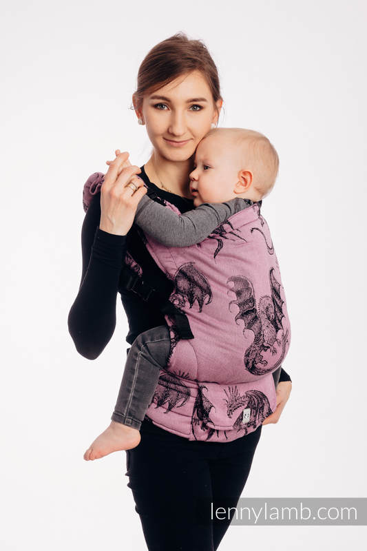 LennyUp Carrier, Standard Size, jacquard weave 100% cotton - DRAGON - DRAGON FRUIT #babywearing