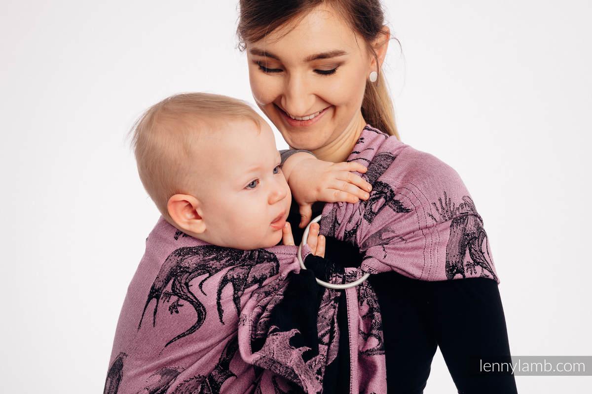 Ringsling, Jacquard Weave (100% cotton) - with gathered shoulder - DRAGON - DRAGON FRUIT - long 2.1m #babywearing