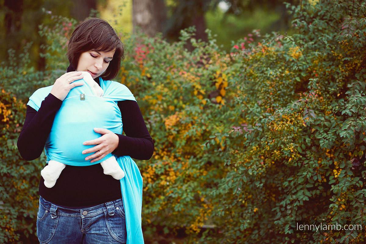 Chusta do noszenia dzieci, elastyczna - Lazur - rozmiar M #babywearing