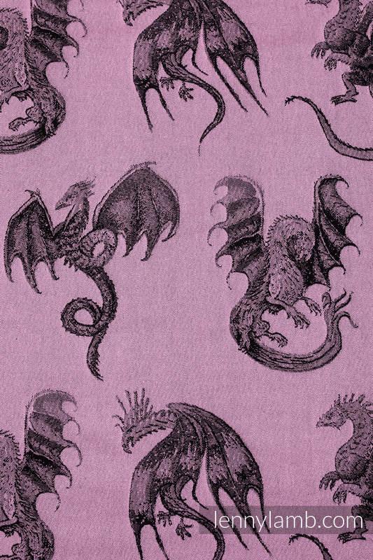Mochila portamuñecos hecha de tejido, 100% algodón - DRAGON - DRAGON FRUIT #babywearing