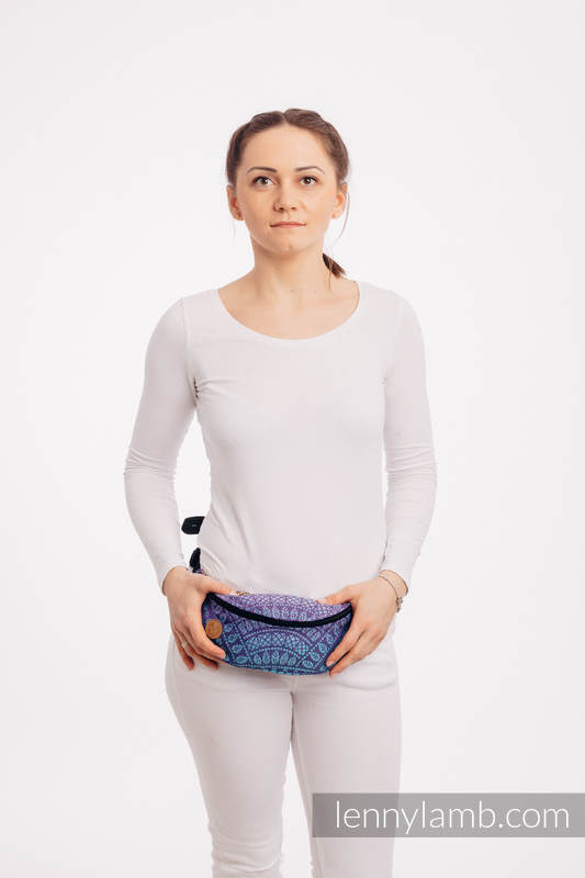 Waist Bag made of woven fabric, (100% cotton) - PEACOCK'S TAIL - CLOSER TO THE SUN #babywearing