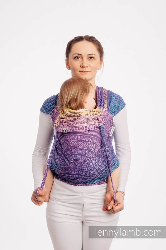 WRAP-TAI carrier Toddler with hood/ jacquard twill / 100% cotton / PEACOCK'S TAIL - CLOSER TO THE SUN #babywearing