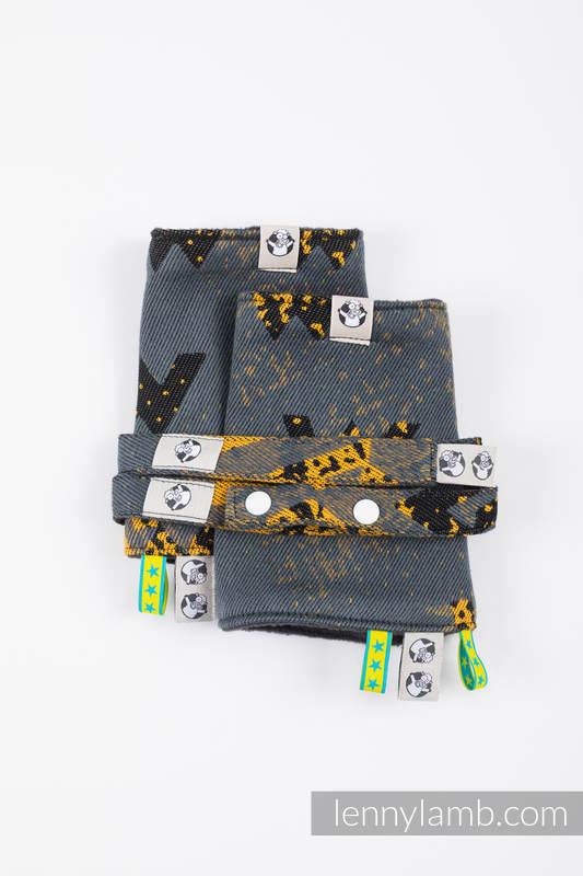 Set de protege tirantes y tiras de alcance (60% algodón, 40% Poliéster) - WAWA - Grey & Mustard #babywearing
