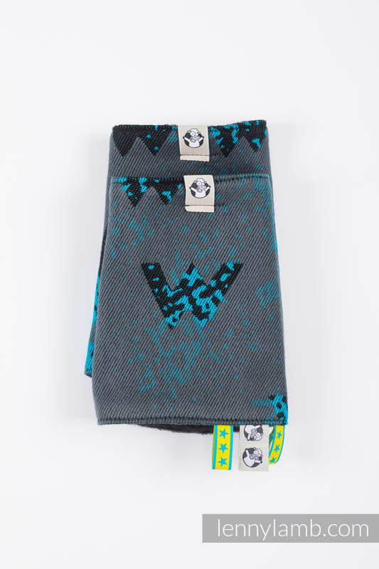 Set de protege tirantes y tiras de alcance (60% algodón, 40% Poliéster) - WAWA - Grey & Blue #babywearing