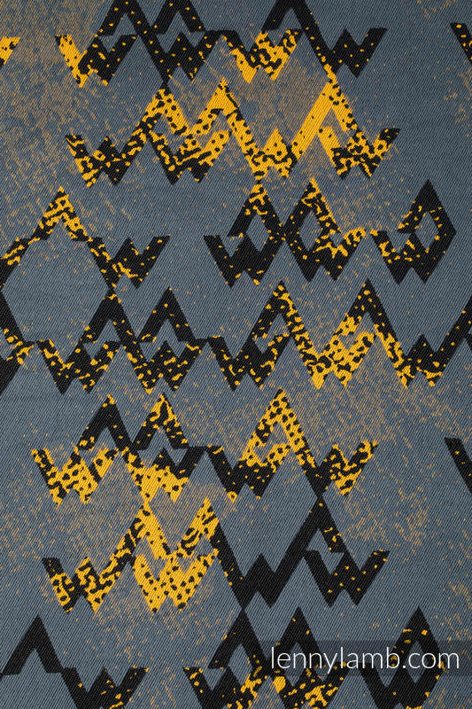 Mochila portamuñecos hecha de tejido, 100% algodón - WAWA - Grey & Mustard #babywearing