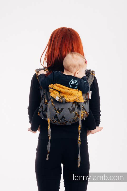 Lenny Buckle Onbuhimo Tragehilfe, Größe Standard, Jacquardwebung (100% Baumwolle) - WAWA - Grey & Mustard #babywearing