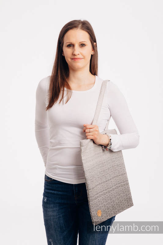 Shopping bag made of wrap fabric (100% cotton) - BIG LOVE - OMBRE BEIGE #babywearing