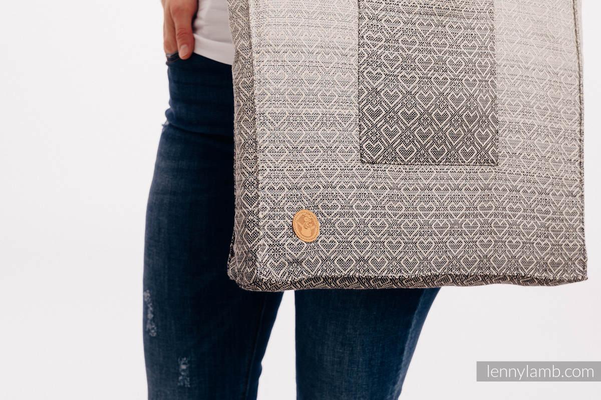 Shoulder bag made of wrap fabric (100% cotton) - BIG LOVE - OMBRE BEIGE - standard size 37cmx37cm #babywearing