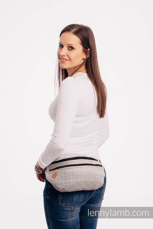 Gürteltasche, hergestellt vom gewebten Stoff, Große Größen  (100% Baumwolle) - BIG LOVE - OMBRE BEIGE #babywearing
