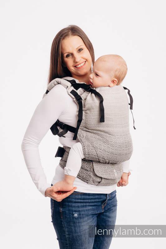 LennyUp Carrier, Standard Size, jacquard weave 100% cotton - BIG LOVE - OMBRE BEIGE #babywearing