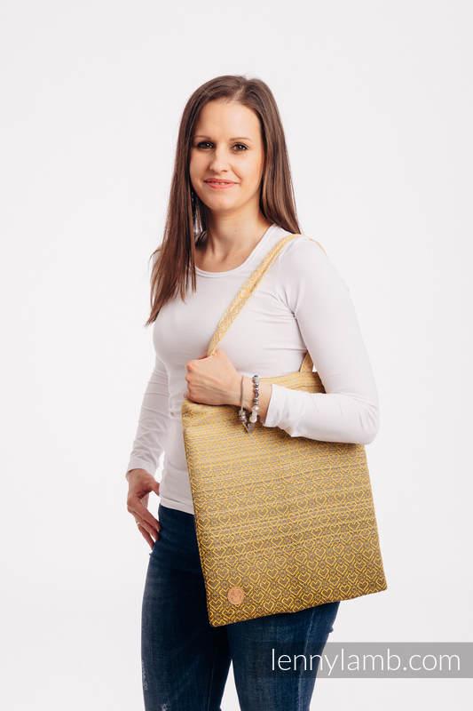 Bolsa de la compra hecho de tejido de fular (100% algodón) - BIG LOVE - OMBRE YELLOW #babywearing