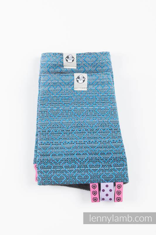 Set de protege tirantes y tiras de alcance (60% algodón, 40% Poliéster) - BIG LOVE - OMBRE LIGHT BLUE #babywearing