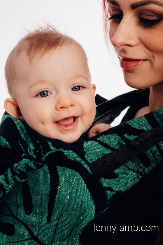 Mochila ergonómica LennyGo, talla Toddler, jacquard (78% algodón, 22% seda) - MONSTERA - URBAN JUNGLE #babywearing