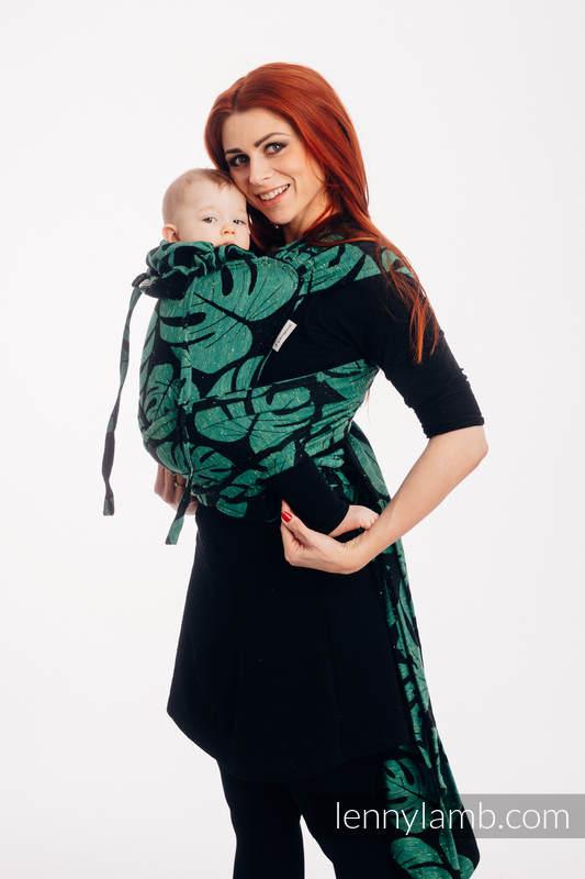 WRAP-TAI portabebé Toddler con capucha/ jacquard sarga/ (78% algodón, 22% seda) - MONSTERA - URBAN JUNGLE  #babywearing