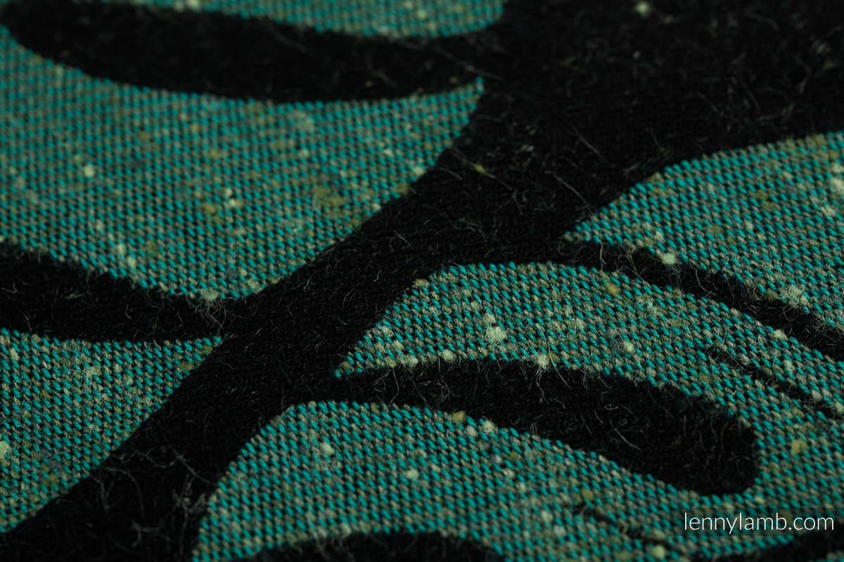 Fular, tejido jacquard (78% algodón, 22% seda) - MONSTERA - URBAN JUNGLE  - talla L #babywearing