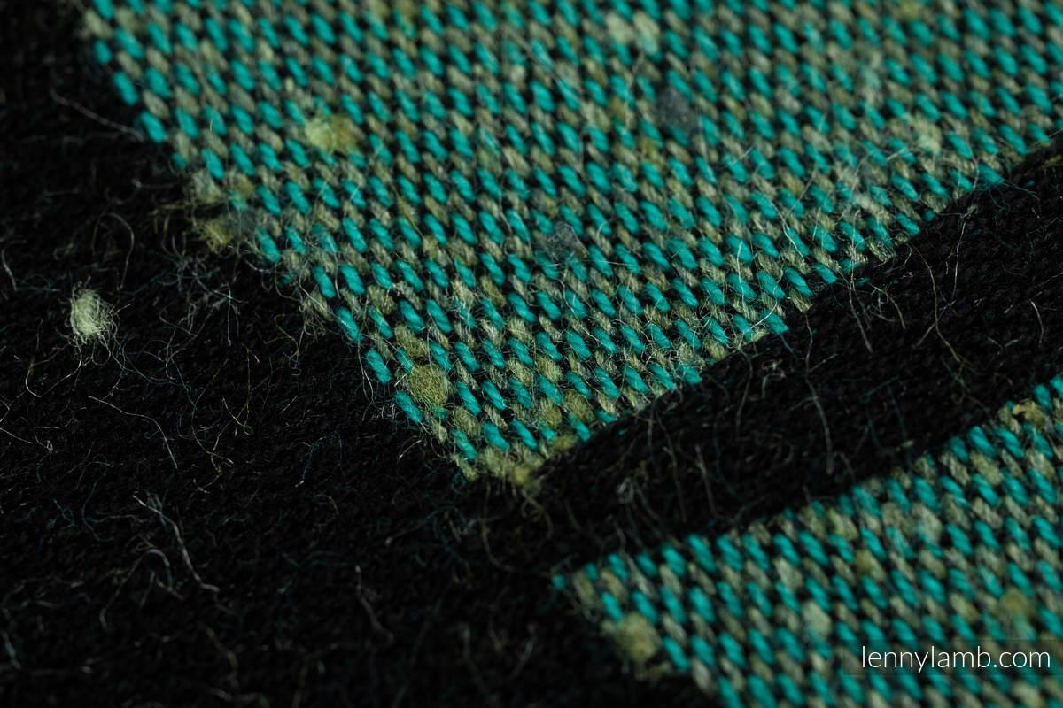 Fular, tejido jacquard (78% algodón, 22% seda) - MONSTERA - URBAN JUNGLE  - talla S #babywearing