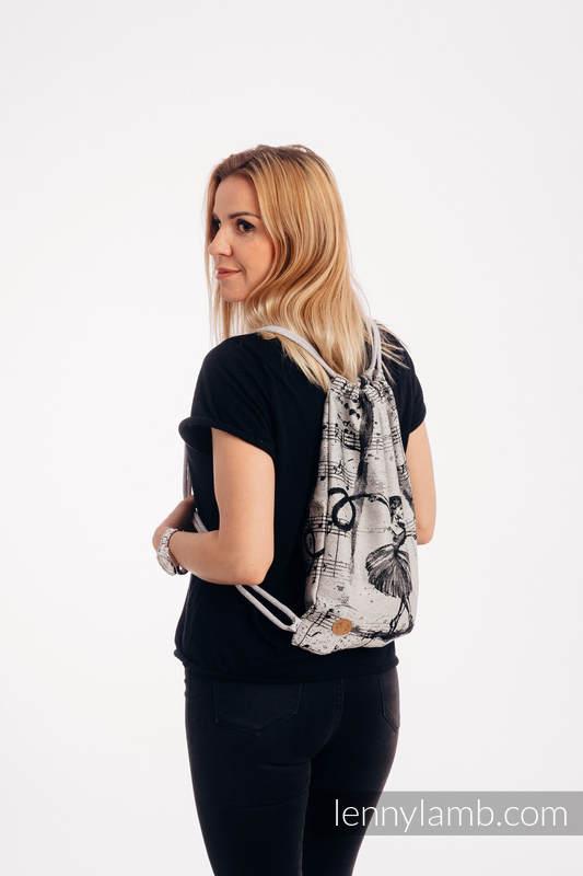 Mochila portaobjetos hecha de tejido de fular (100% algodón) - DANCING DREAMS - talla estándar 32cm x 43cm #babywearing