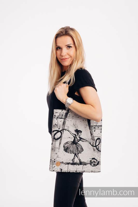 Torba na zakupy z materiału chustowego, (100% bawełna) - TAŃCZĄCE MARZENIA #babywearing