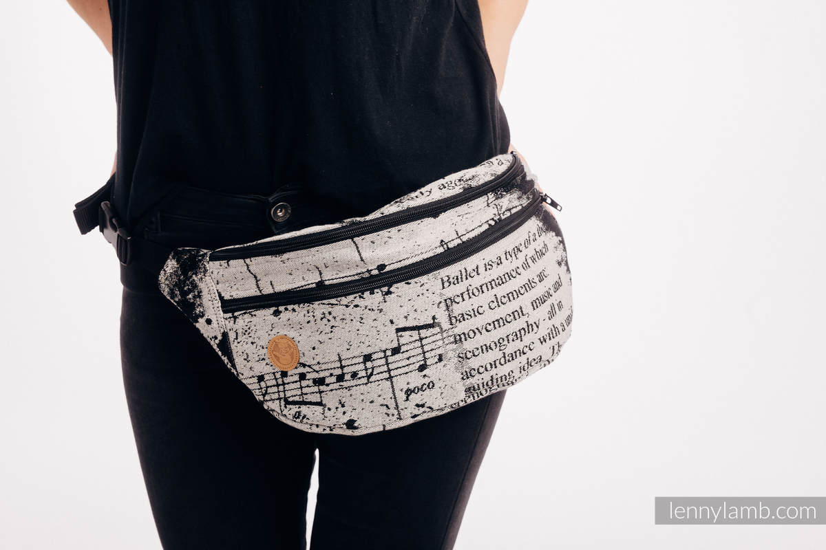 Waist Bag made of woven fabric, size large (100% cotton) - DANCING DREAMS #babywearing