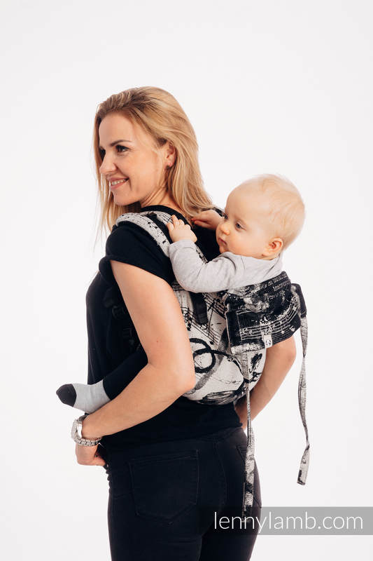 Onbuhimo SAD LennyLamb, talla estándar, jacquard (100% algodón) - DANCING  DREAMS #babywearing