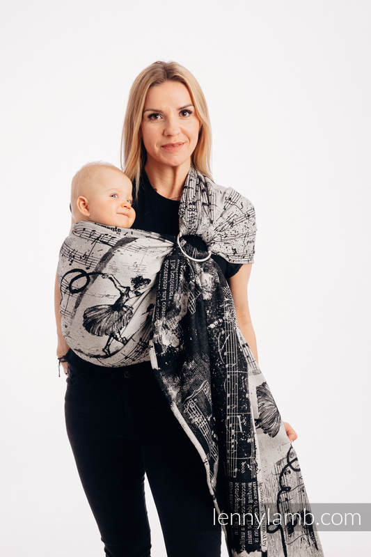 Ringsling, Jacquard Weave (100% cotton) - with gathered shoulder - DANCING DREAMS - standard 1.8m #babywearing