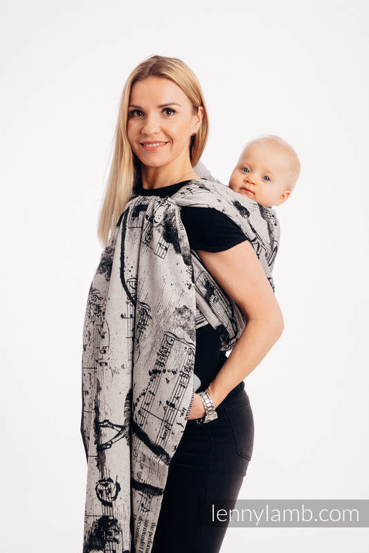 Fular, tejido jacquard (100% algodón) - DANCING  DREAMS - talla S #babywearing