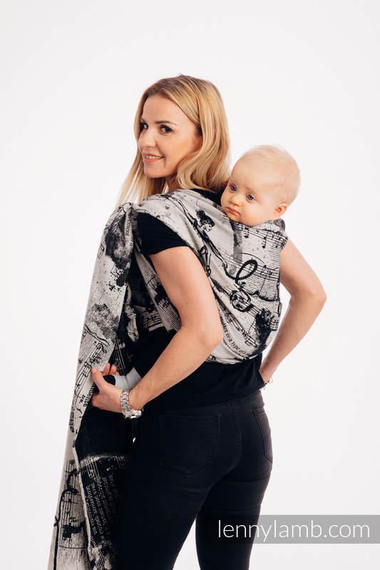 Żakardowa chusta do noszenia dzieci, 100% bawełna - TAŃCZĄCE MARZENIA - rozmiar XS #babywearing