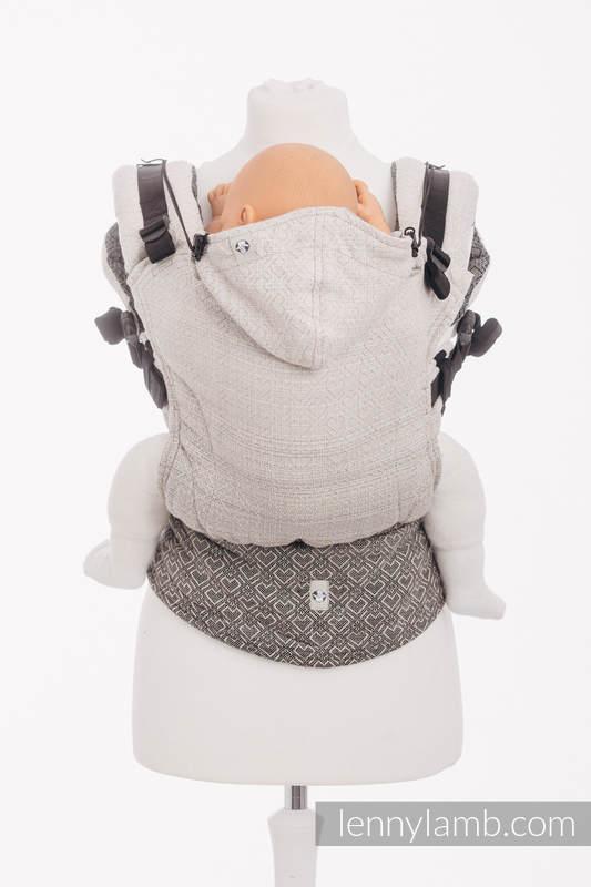 Ergonomic Carrier, Baby Size, jacquard weave 100% cotton - BIG LOVE - OMBRE BEIGE - Second Generation #babywearing