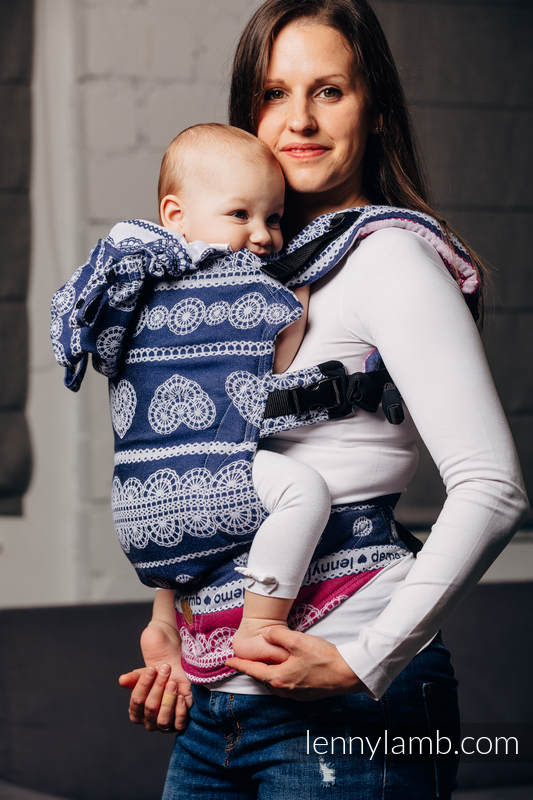 LennyGo Ergonomic Carrier, Toddler Size, jacquard weave 100% cotton -  FOR PROFESSIONAL USE EDITION - LACE 1.0 #babywearing