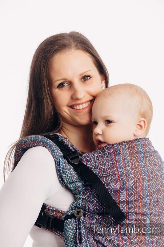 LennyUpGrade Carrier, Standard Size, jacquard weave 100% cotton  - BIG LOVE SAPPHIRE #babywearing