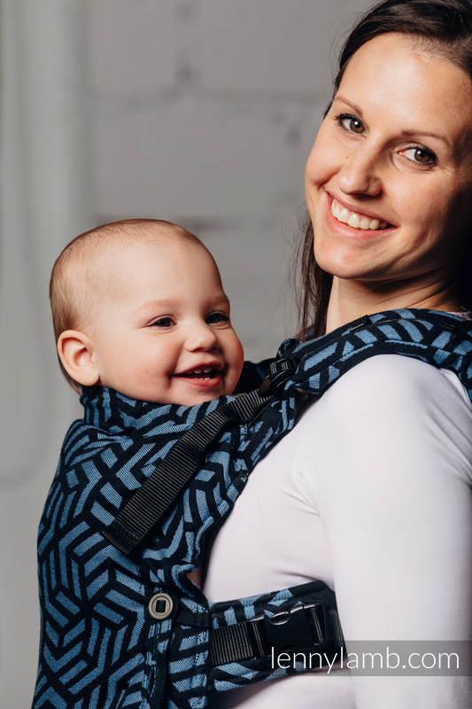 Mochila LennyUpGrade, talla estándar, tejido jaquard 100% algodón - BASIC LINE KYANITE #babywearing