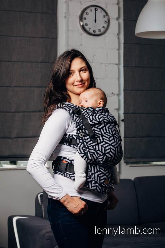 Mochila LennyUpGrade, talla estándar, tejido jaquard 100% algodón - BASIC LINE HEMATITE #babywearing