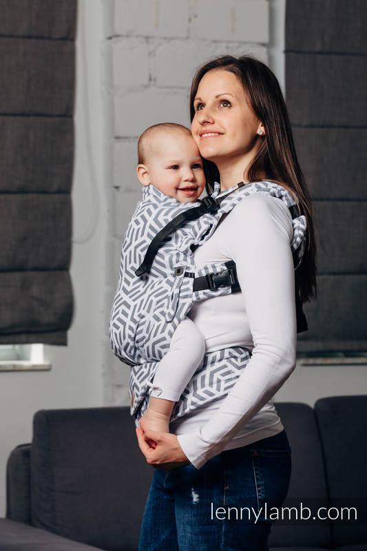 LennyUpGrade Carrier, Standard Size, jacquard weave 100% cotton - BASIC LINE PEARL (grade B) #babywearing